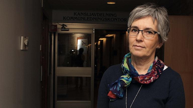 Jeanette Wäppling, Gällivares kommunalråd. Foto: Alexander Linder/ Sveriges Radio.