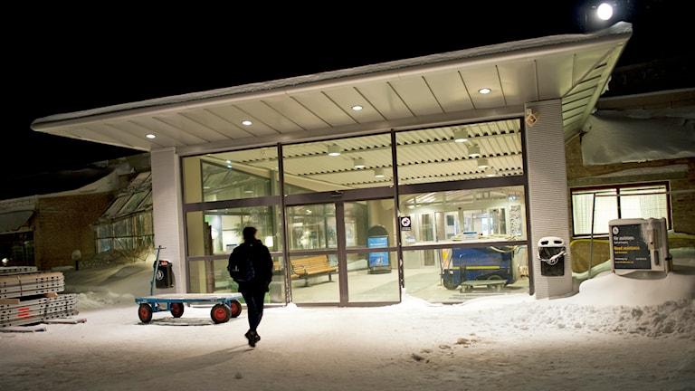 Entrén till ankomsthallen på Luleå Airport. Foto: Anders Alm/TT.