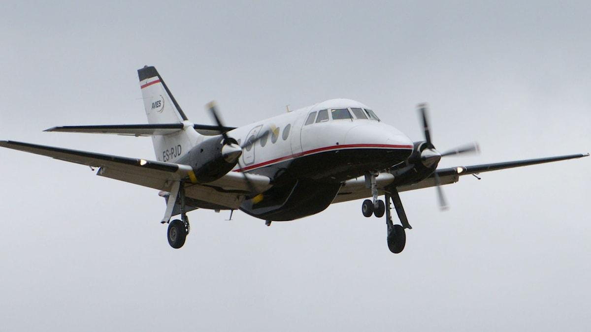 Ett av Avies flygplan i luften. Foto: Johan Nilsson/TT