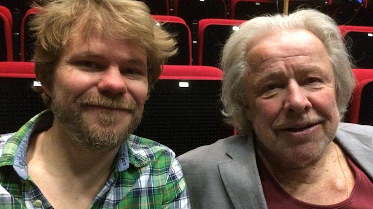 Kalle Seldahl och Sven Wollter. Foto: Lena Callne/Sveriges Radio