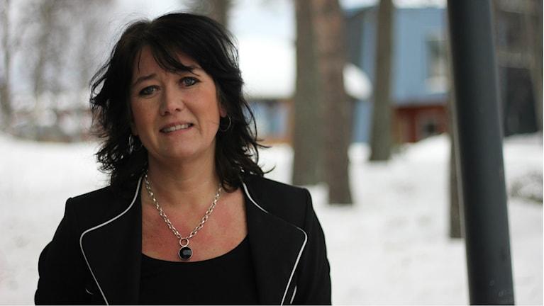 Gabriella Sjöström vid Luleå kommun. Foto: Sveriges Radio.