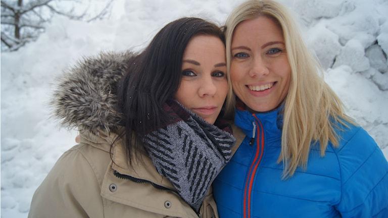 Jonna Buachan och Jonna Valikainen. Foto: Pekka Kenttälä/Sveriges Radio.