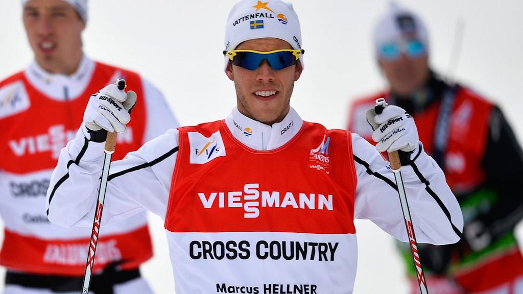 Marcus Hellner på skid-VM i Falun. Foto: Anders Wiklund/TT.