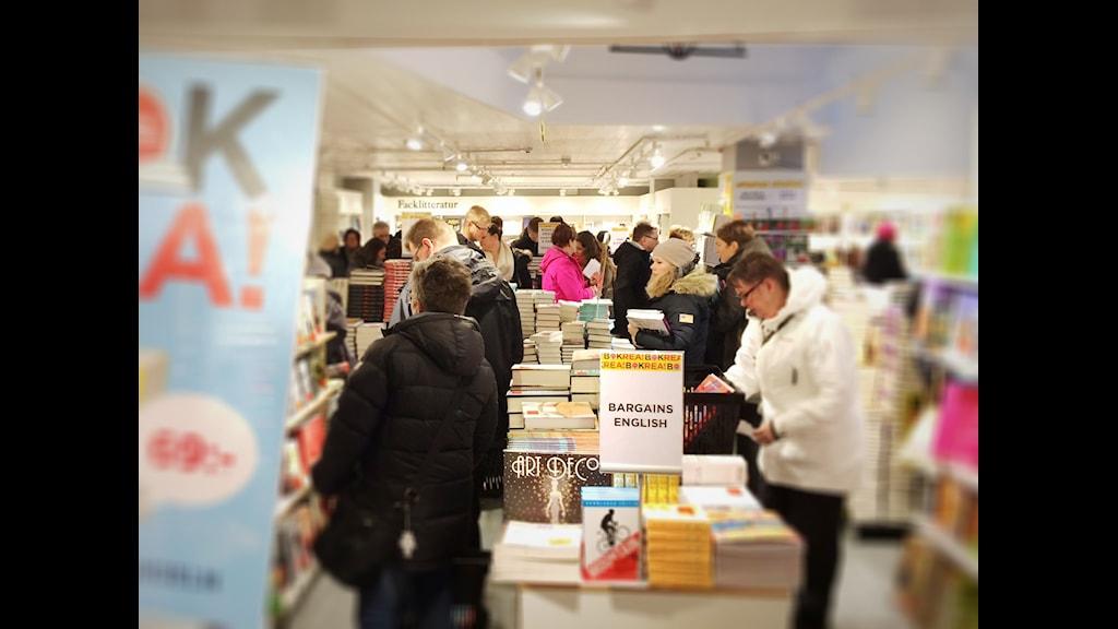 Fortsatt intresse för bokrean. Foto: Anna Lidé, P4 Norrbotten