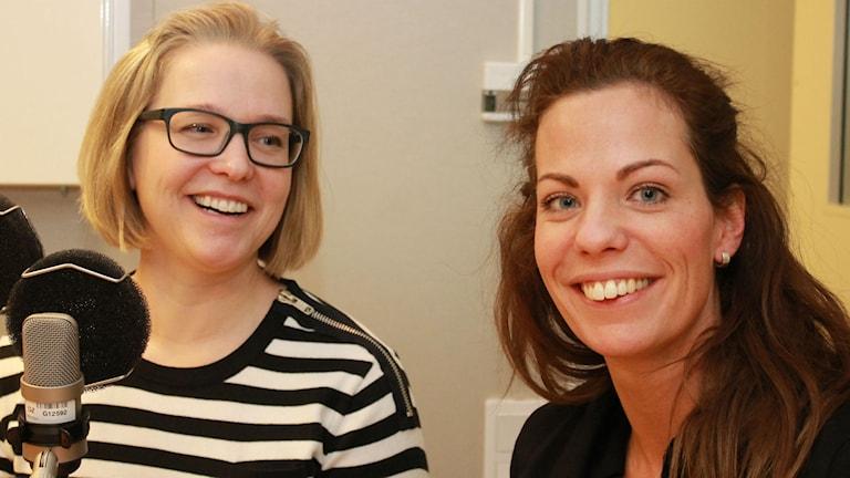 Eva-Lena Johansson Bergman och Louise Nelson från Föräldrasupporten i Luleå. Foto: Eleonor Norgren/Sveriges Radio