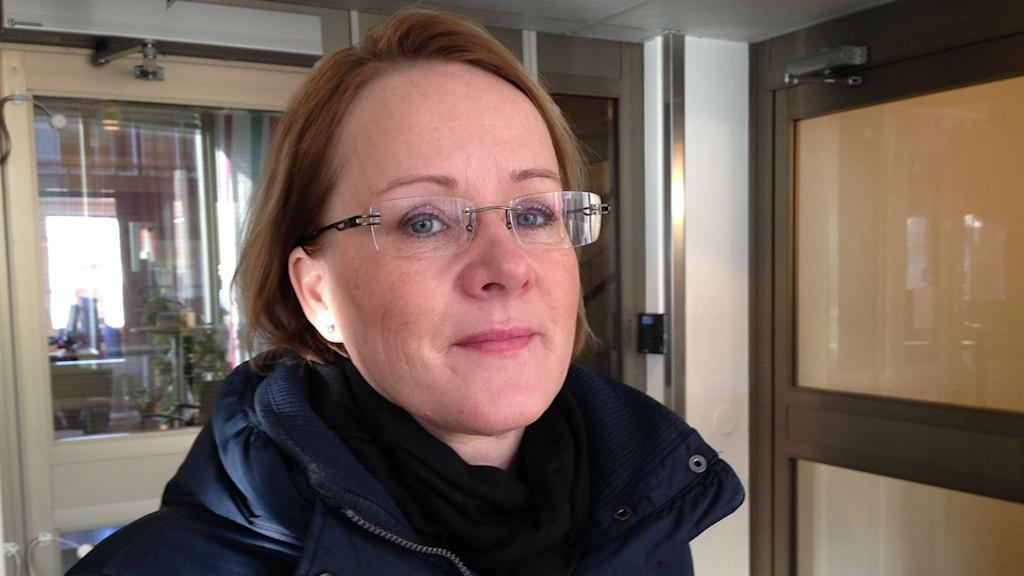 Det socialdemokratiska landstingsrådet i Norrbotten Maria Stenberg. Foto: Nils Eklund/Sveriges Radio.