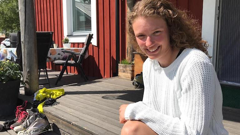 Hanna Öberg ser framåt.