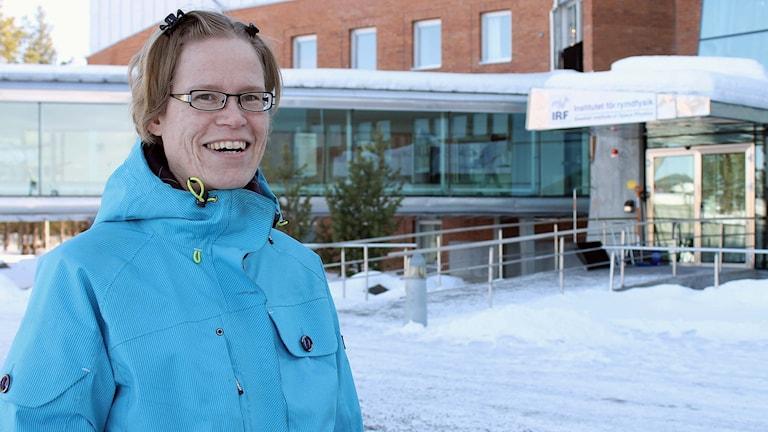 Gabriella Stenberg Wieser, forskare i Institutet för rymdfysik i Kiruna. Foto: Alexander Linder/ Sveriges Radio.