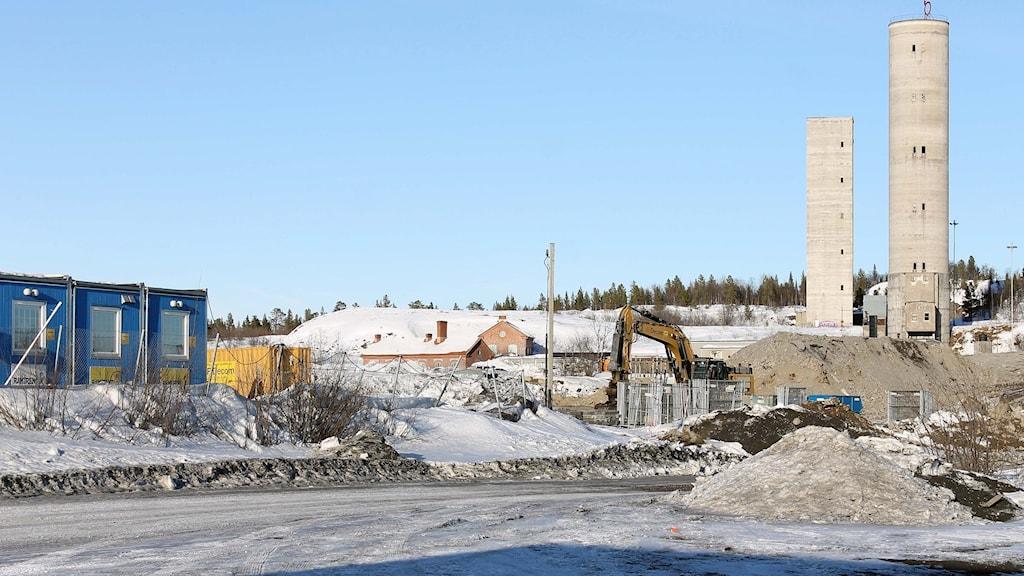 Nya Kiruna ska byggas i det här området. Foto: Alexander Linder/ Sveriges Radio.
