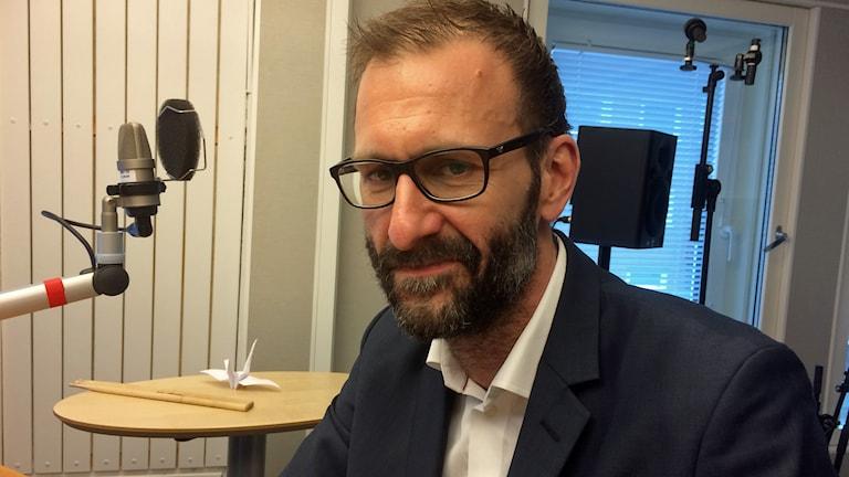 Mikael Lekfalk, blivand kommunchef i Luleå kommun. Foto: Lena Callne/Sveriges Radio.