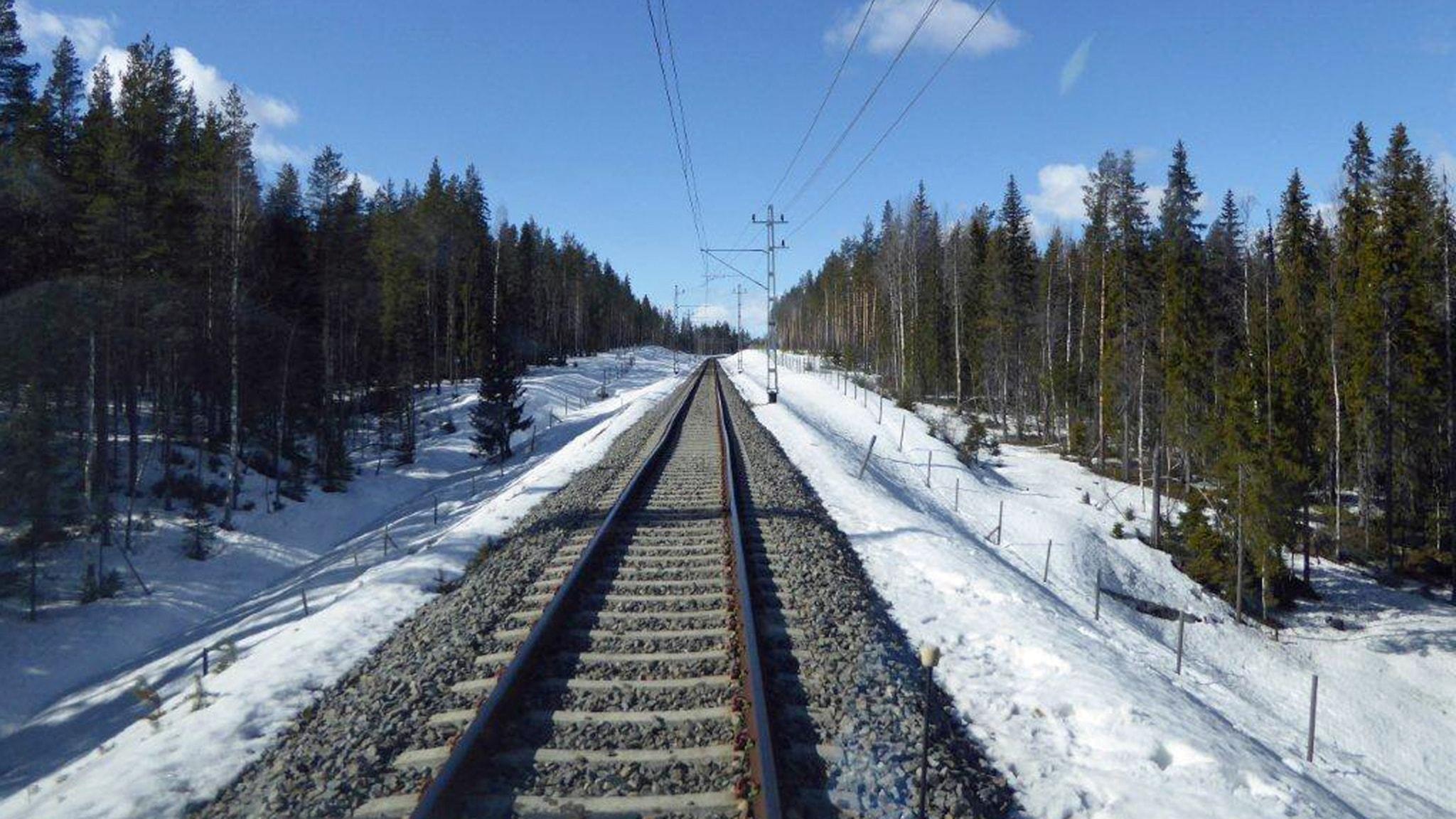 Haparandabanan. Foto: Kenneth Vågbrink/Trafikverket.