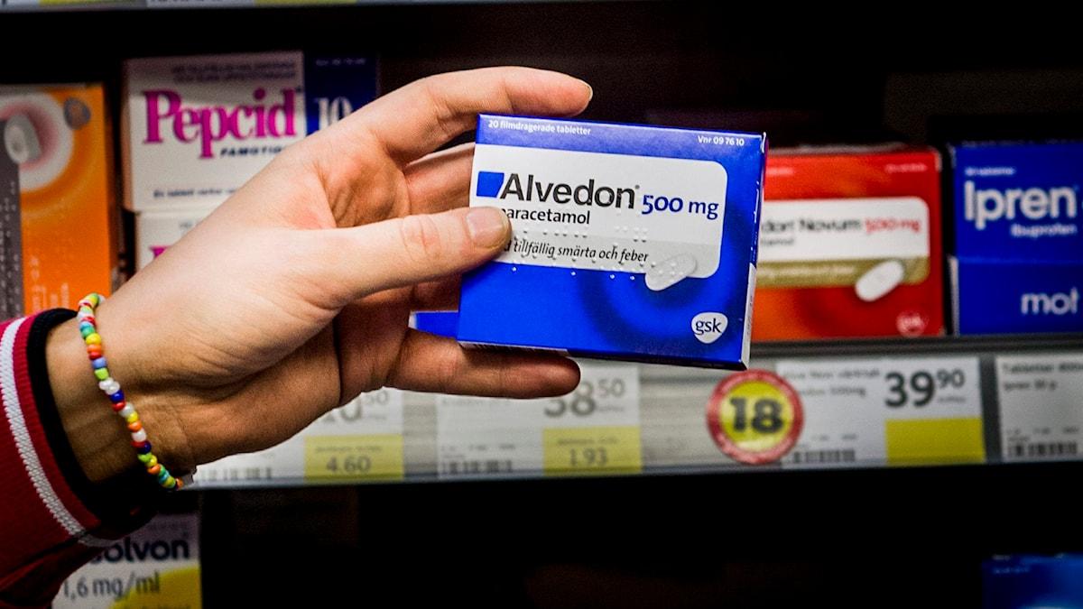 Läkemedelsverket har fattat beslut om försäljningsstopp för paracetamol i tablettform i detaljhandeln. Foto: Nora Lorek/TT