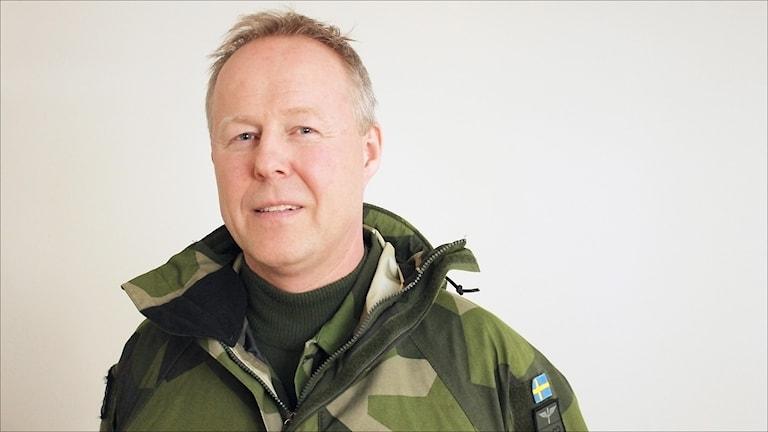 Carl-Johan Edström, chef F21 Luleå. Foto Stig-Arne Nordström/Sveriges Radio.