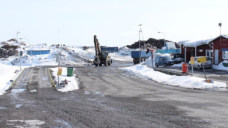 Kiruna avfallsanläggning. Foto: Alexander Linder/ Sveriges Radio.