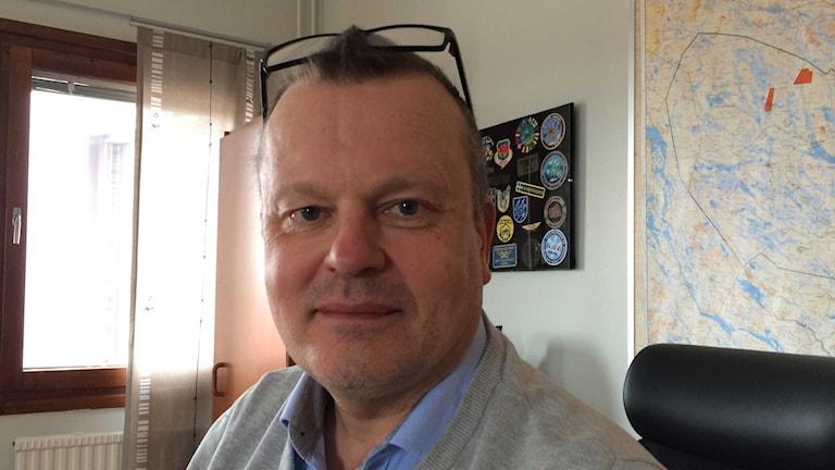 Mats Hakkarainen, chef på provplatsen i Vidsel. Foto: Ulf Larsson/Sveriges Radio.