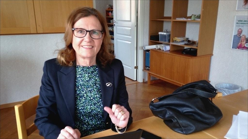 Anna-Stina Nordmark-Nilsson (C), gruppledare i landstinget i Norrbotten. Foto: Stig-Arne Nordström/Sveriges Radio.