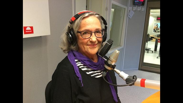 Författaren Siv Berglund. Foto: Linnea Luttu/ Sveriges Radio.