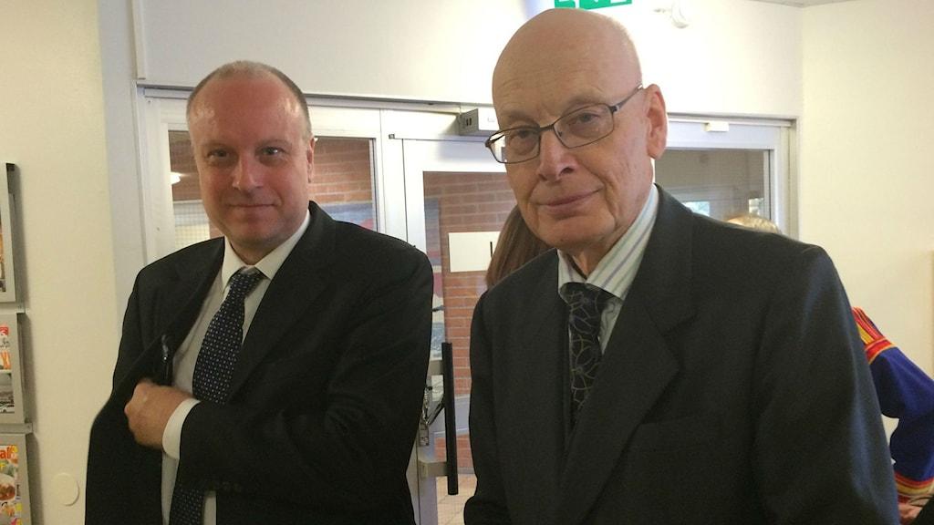 Statens advokater i Girjasmålet, Jonas Löttiger och Hans Forssell