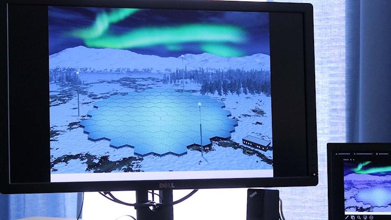 Den nya forskningsradaren kan komma att se ut så här. Foto: Alexander Linder/ Sveriges Radio.
