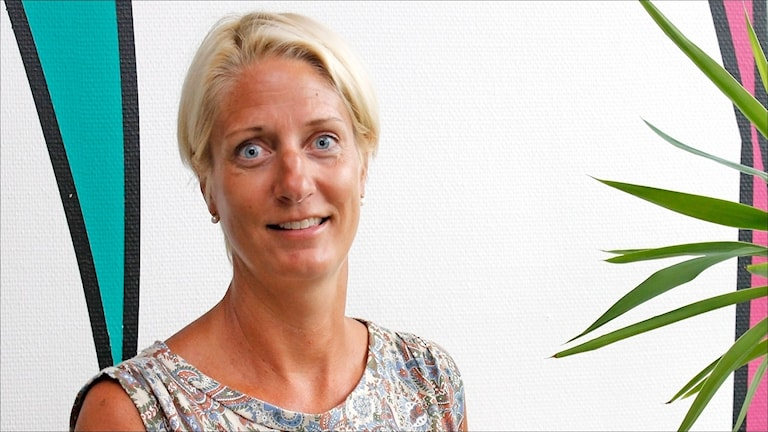 Anna-Karin Lindqvist, doktorand Luleå tekniska universitet och tidigare landslagssimmare. Foto Stig-Arne Nordström / Sveriges Radio.