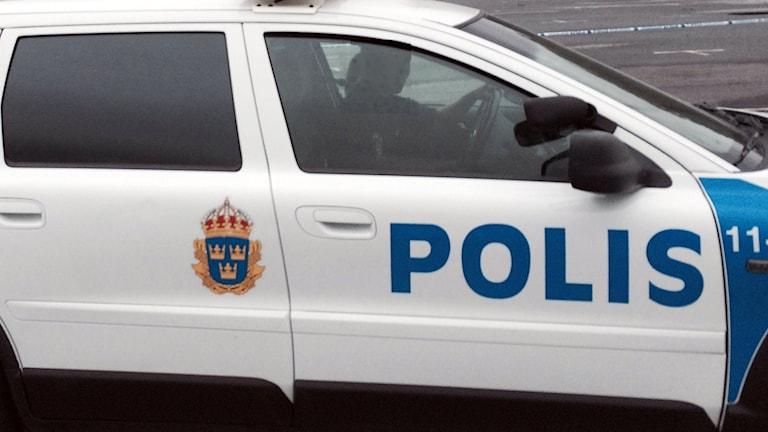 Polisbil. Foto: Ulf Larsson/Sveriges Radio