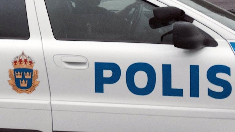 Polisbil i Boden. Foto: Ulf Larsson/Sveriges Radio