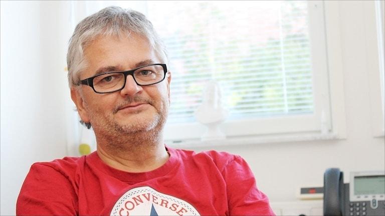 Anders Nystedt, smittskyddsläkare NLL. Foto Stig-Arne Nordström / Sveriges Radio.