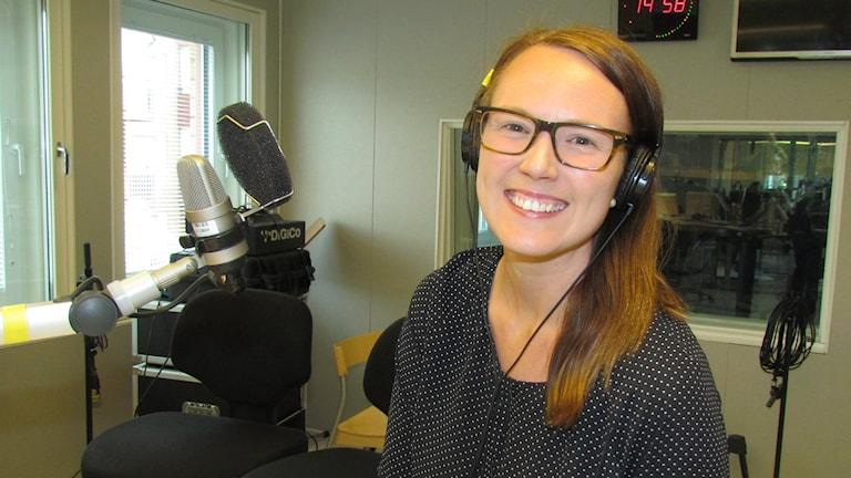 Lisa Ek, analytiker vid LTU. Foto: Beatrice Karlsson/Sveriges Radio.