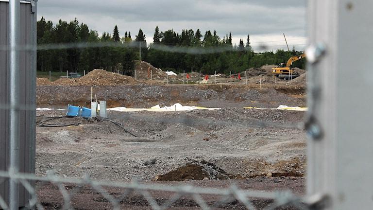 Här ska nya stadshuset byggas. Foto: Alexander Linder/ Sveriges Radio.