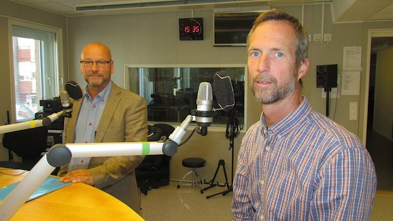 Kenneth Robarth och Peter Michaelsson. Foto: Beatrice Karlsson/Sveriges Radio.