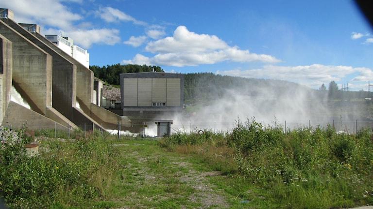 Porsi vattenkraftverk i Jokkmokks kommun. Foto: Ulf Larsson/Sveriges Radio.