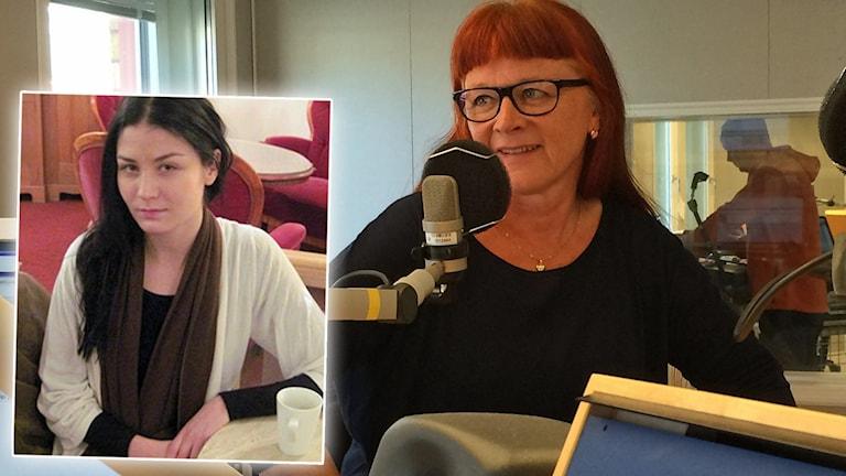 Gymnasieläraren Annika Sannerström och Malin Buska infälld. Foton: Samed Salman och André Pettersson/Sveriges Radio. Montage: Sveriges Radio.