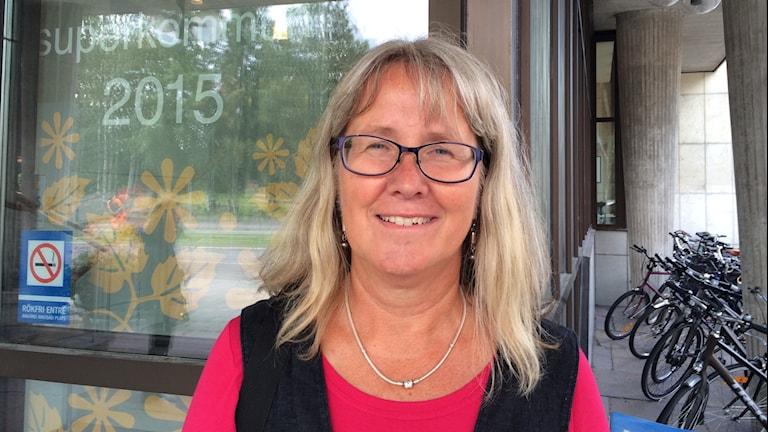 Lena Bengtén, samhällsstrateg på Luleå kommun. Foto: Samed Salman/Sveriges Radio.