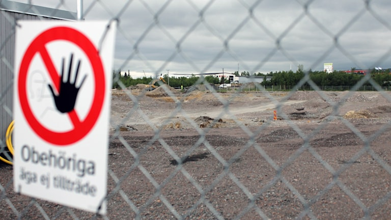 Här ska Kirunas nya stadshus byggas. Foto: Alexander Linder/ Sveriges Radio.
