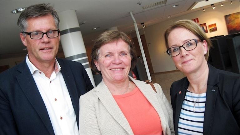 NLL: Hans Rönnkvist, Carola Fransson och Maria Stenberg. Foto Stig-Arne Nordström / Sveriges Radio.