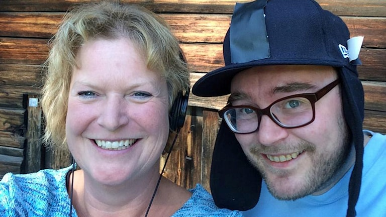 P4 Norrbottens Ann-Christine Wallner-Hoppe och Jon Hedström. Foto: Sveriges Radio.