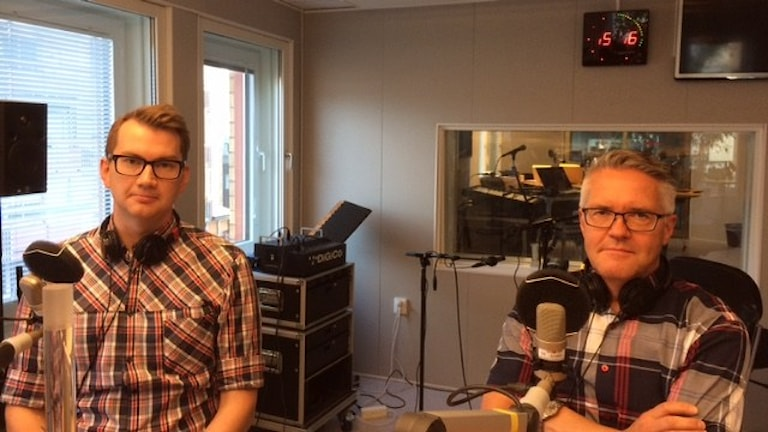 Rikard Aspholm från Länsstyrelsen och Håkan Hansi från Migrationsverket