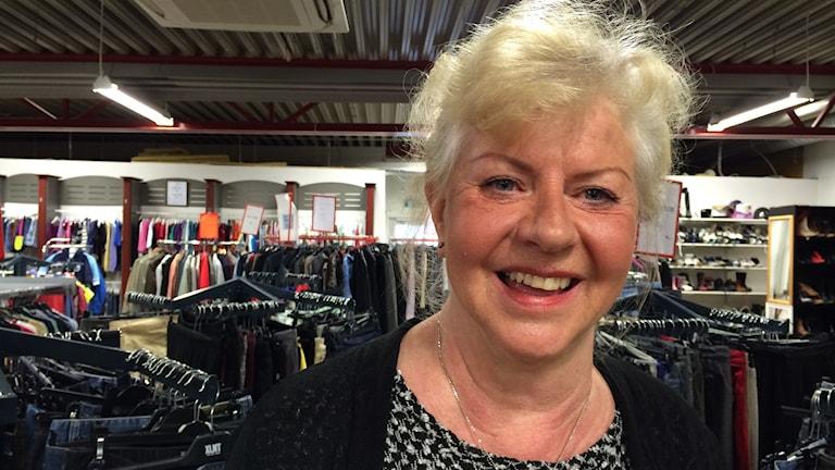 Ulla-Britt Boström, ordförande för Röda Korset i Piteå. Foto: Ann-Christine Wallner-Hoppe/Sveriges Radio