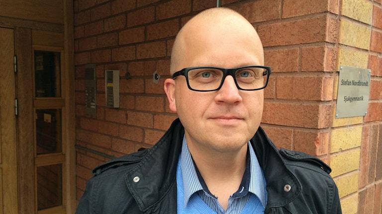 Johan Runelöf, områdeschef hemtjänsten Luleå. Foto: Linnea Luttu/Sveriges Radio.