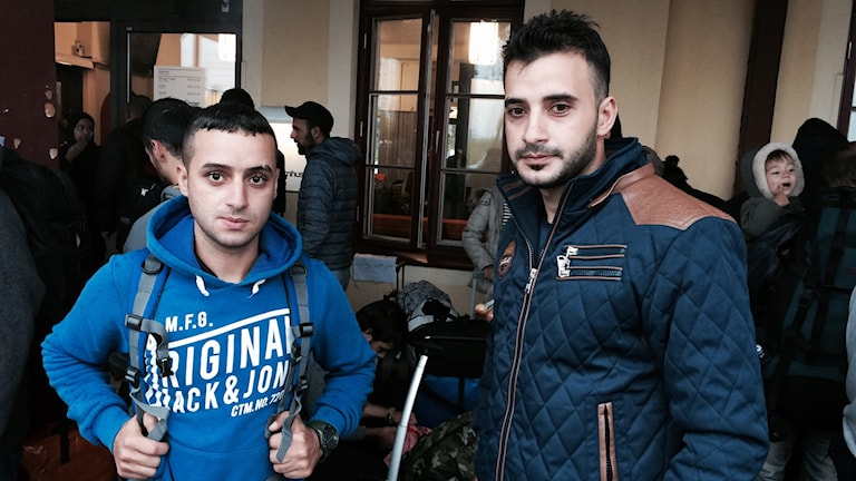 Mon'im al-Ausi och Ali Saidi. Foto: Eleonor Norgren/Sveriges Radio.