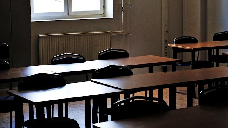Tomt klassrum. Foto: Martina Holmberg/TT.