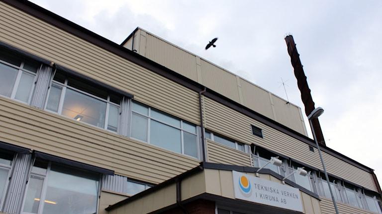 Tekniska verken i Kiruna har släppt ut för höga halter av tungmetaller till vatten. Foto: Alexander Linder/ Sveriges Radio.