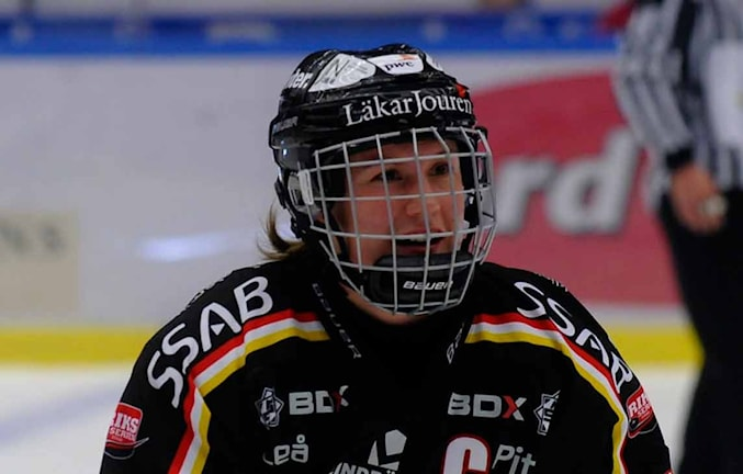 Emma Eliasson, Luleå Hockey/MSSK. Foto: Alf Lindbergh/Pressbilder AB.
