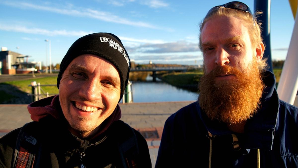 Jan-Mikael Hakomäki och Adam Huuva. Foto: Pekka Kenttäla/Sveriges Radio