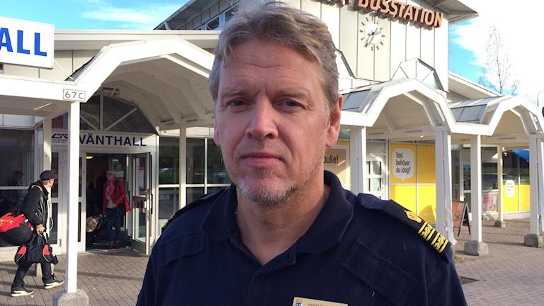 Anders Ringvall, vid polisen i Norrbotten. Foto: Samed Salman/Sveriges Radio