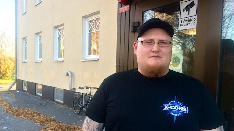 Kristian Johansson, initiativtagare till x-cons. Foto: David Zimmer/Sveriges Radio.