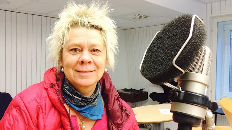 Psykoterapeuten Lotta Lindgren i Luleå. Foto: Anna Lidé /Sveriges Radio