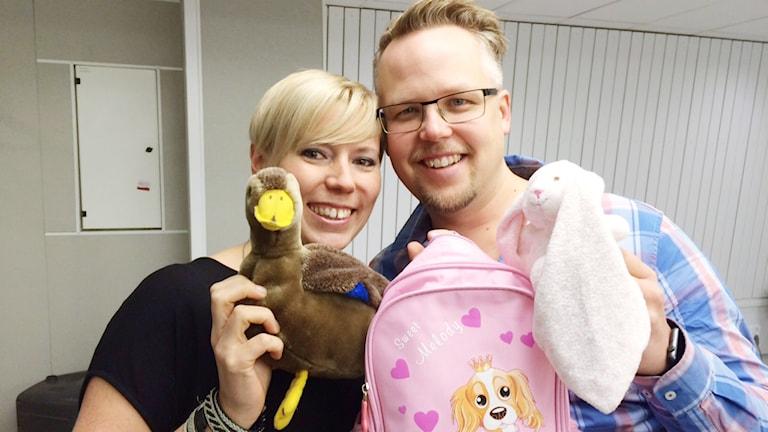 Christina och Clas Lund från Rosvik. Foto: Tova Nilsson/ P4 Norrbotten