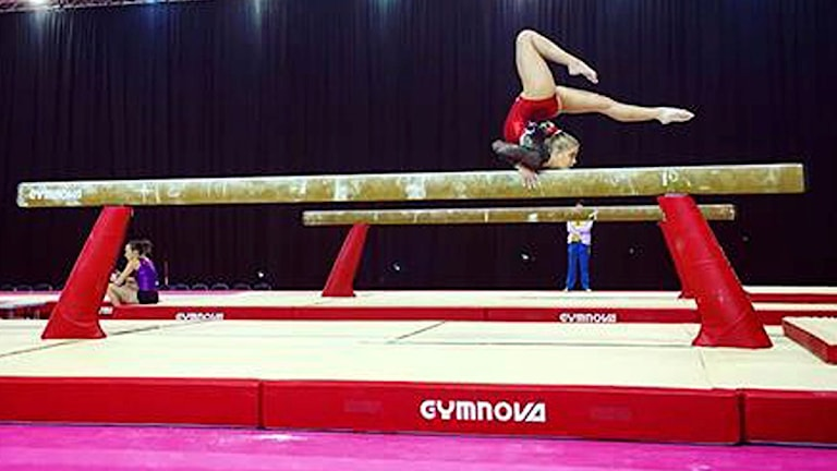 Julia Rumbutis under veckans podieträning inför VM. Foto: Sergej Rumbutis.