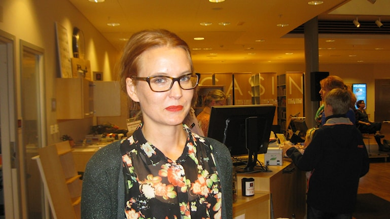 Ida Björel vinnare Erik Lindegrenpriset 2015. Foto: Anna Widén/P4 Norrbotten